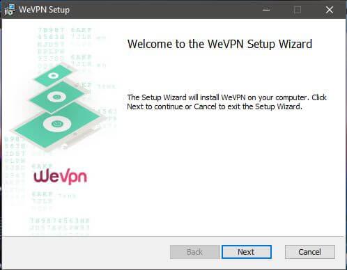 WeVPN Setup 1