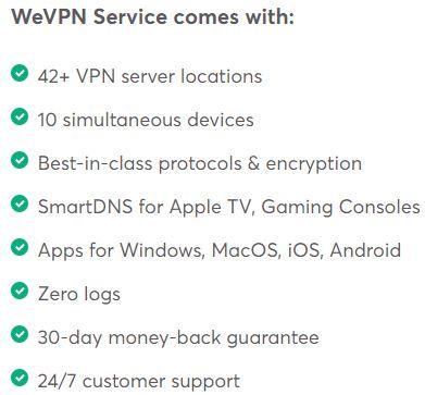 WeVPN Simultaneous Connections