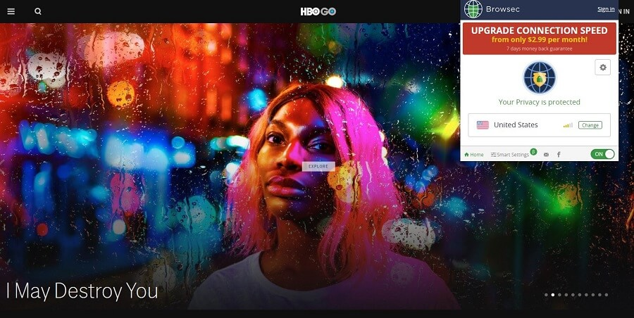 Browsec VPN HBO GO