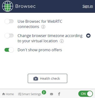 Browsec VPN Security Features