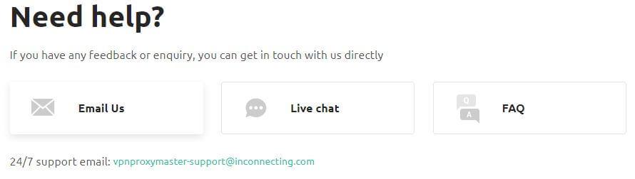Proxy Master VPN Contact