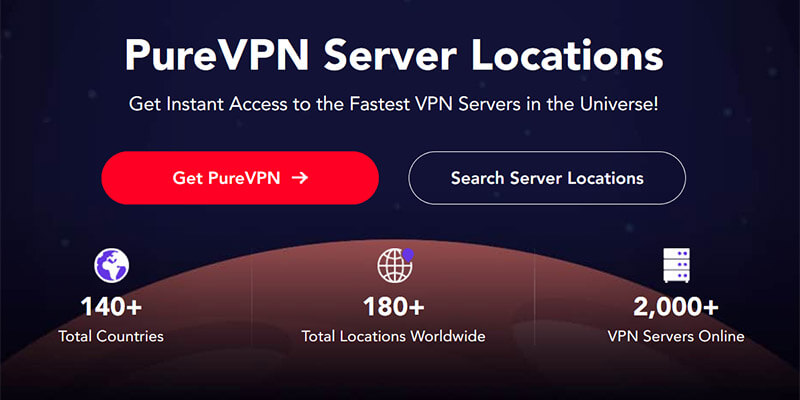 PureVPN Countries Covered