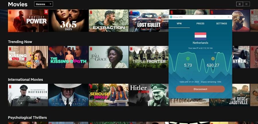Whoer VPN Netflix