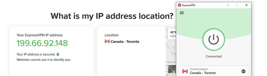 Canadian IP ExpressVPN