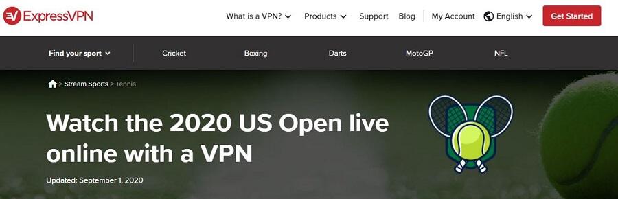 ExpressVPN US Open 2021