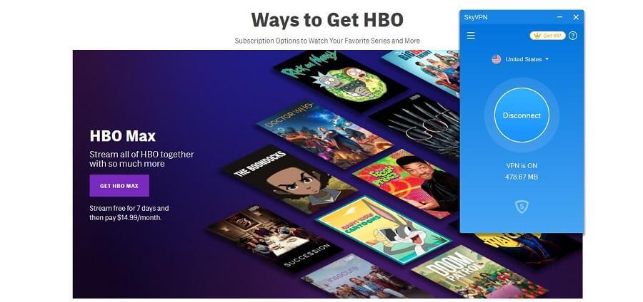 SkyVPN HBO GO