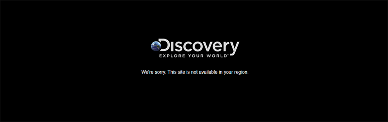 Error message Discovery Channel