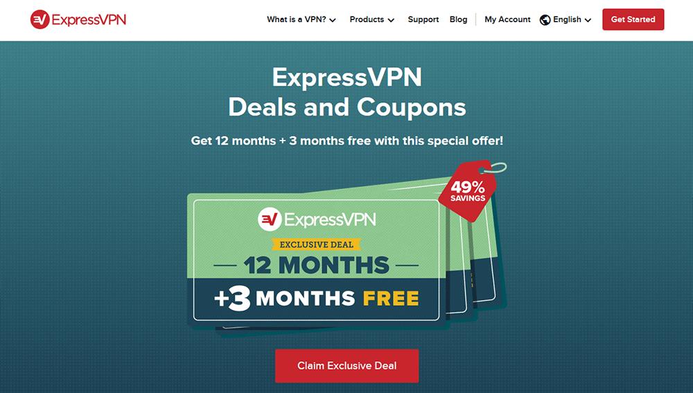 ExpressVPN coupon promo